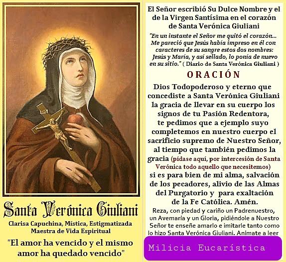 Santa Veronica Giuliani (1660-1727) O.C.S. Capuchina