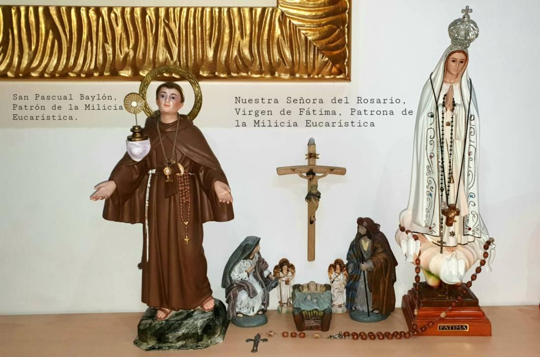 san pascual Baylon y Nuestra Señora del Rosario Patronos de la Milicia Eucaristica